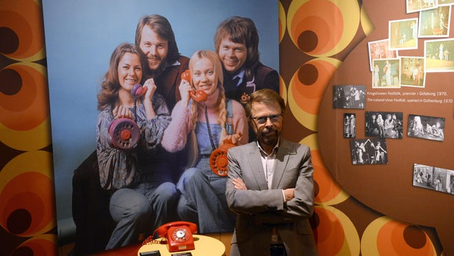 Bjorn Kristian Ulvaeus, member of Swedish disco group ABBA, poses at the world's first permanent ABBA museum, in this May 6, 2013 file photo in Stockholm