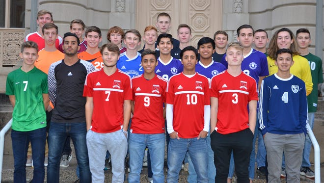 The members of the 2017 All-Enquirer Boys Soccer Team.