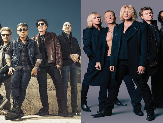 Journey and Def Leppard.