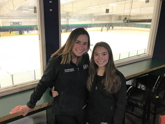 Expected to contend in the senior division at the 2018 National Showcase is the duo of Paige Bartholomew (left) and Alyssa Kormos, both of Milford.