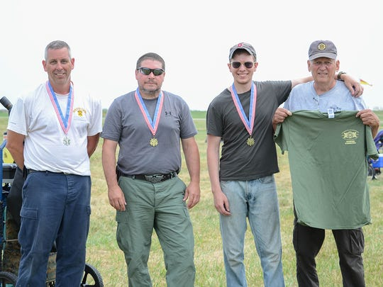 Competitors who fire achievement scores earn gold, silver or bronze medals. Everyone also receives a 2017 M1 Carbine Match T-shirt after they complete the course of fire.