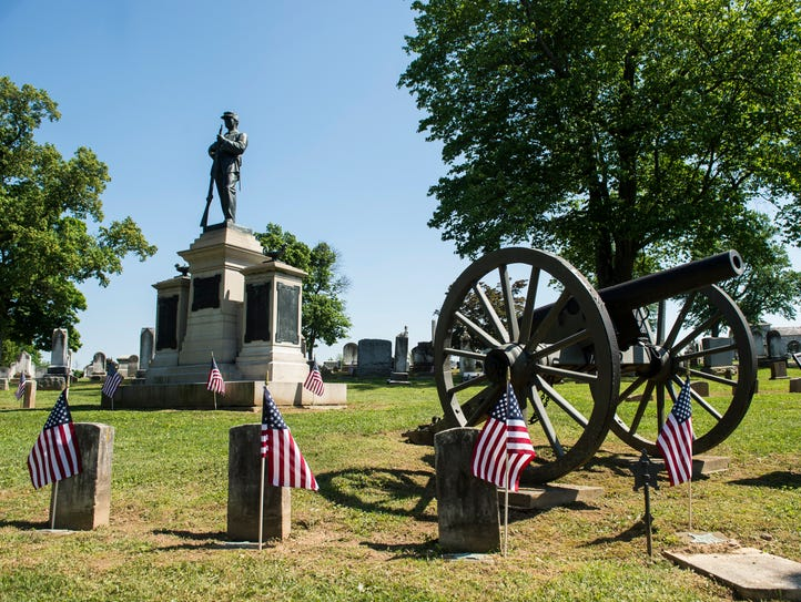A section of Mount Olivet Cemetery in Hanover is the