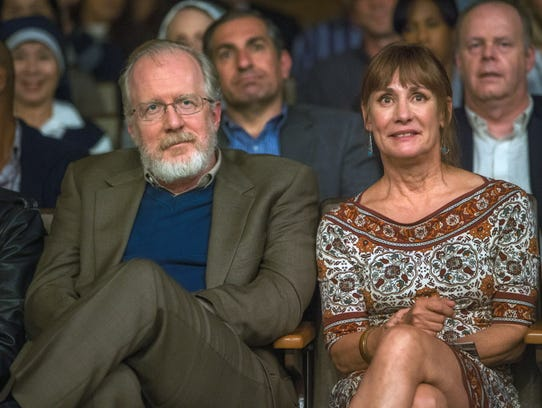 Tracy Letts (left) and Laurie Metcalf star as Saoirse