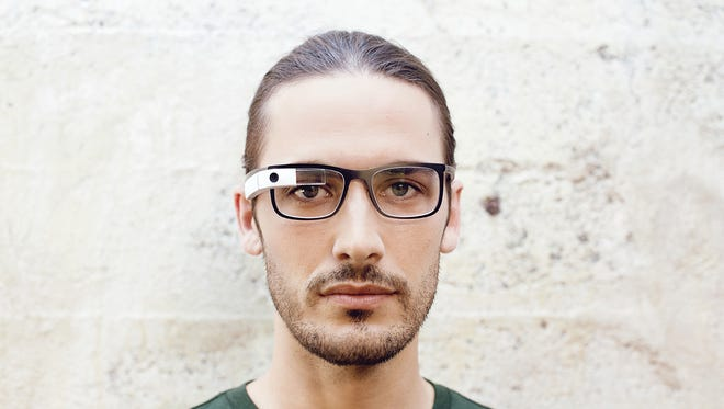One of Google's new frame designs for its Glass wearable technology.