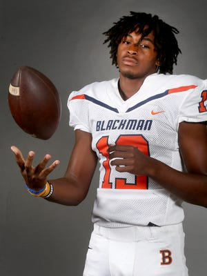 Blackman junior wide receiver Trey Knox.