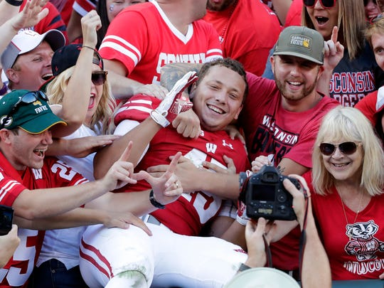 Wisconsin Badgers fullback and former Bay Port standout