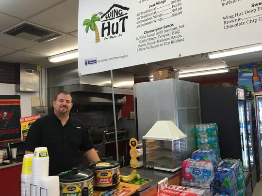 Chef Jay Holland opened The Wing Hut inside a Marathon gas station in south Fort Myers.