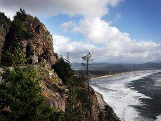 Neahkahnie Beach and Neahkahnie Mountain north of Manzanita