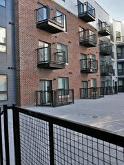 Looking out from a studio apartment in The Coil Apartments,