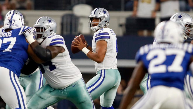 Cowboys QB Dak Prescott was the NFL offensive rookie of the year in 2016.