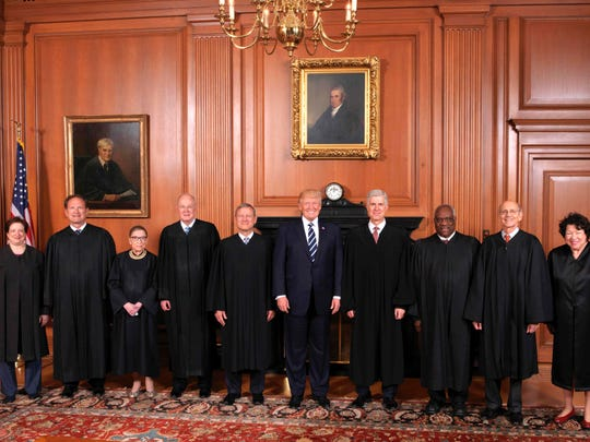 President Trump visited the Supreme Court earlier this month for the investiture of his nominee, Justice Neil Gorsuch.