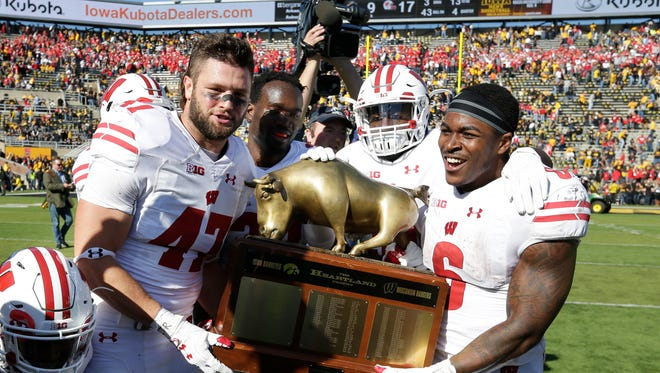 If Wisconsin, Iowa, Nebraska and Minnesota end up in a four-way tie in the Big Ten's West Division, the Badgers would win the title based on their victory over Iowa in October.