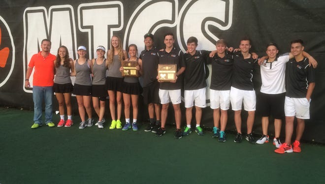 MTCS won the boys and girls District 9-A/AA team tournaments on Friday.