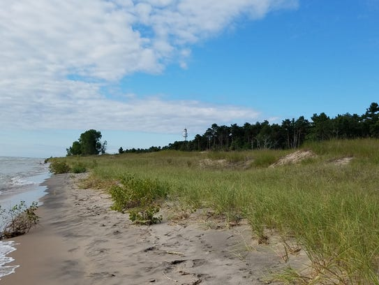 Point Beach in Two Rivers offers a mixture of sandy