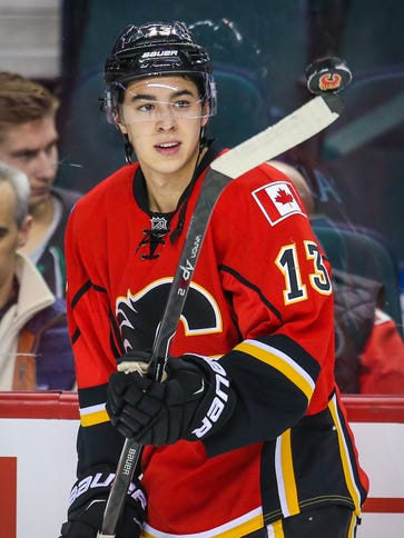Calgary Flames left wing Johnny Gaudreau has come a