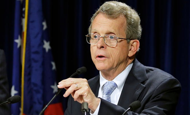 Ohio Attorney General Mike DeWine speaks at a news conference in Cincinnati in this Friday, July 19, 2013, file photo. Initially DeWine didn't think it was necessary to alert the public to the use of new facial recognition software when he found out it was in use. On Monday, Aug. 26, 2013, he said he should have announced the technology when it launched in June.