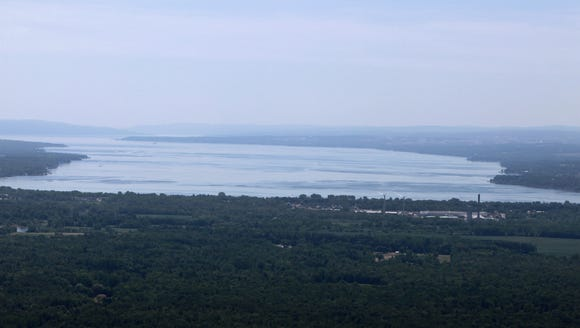 The north end of Seneca Lake taken from a plane.