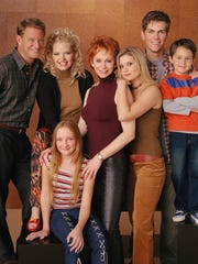 "The cast of the TV show ""Reba"": Christopher Rich, Melissa"