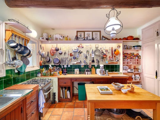 The kitchen in Julia Child's kitchen in Provence.