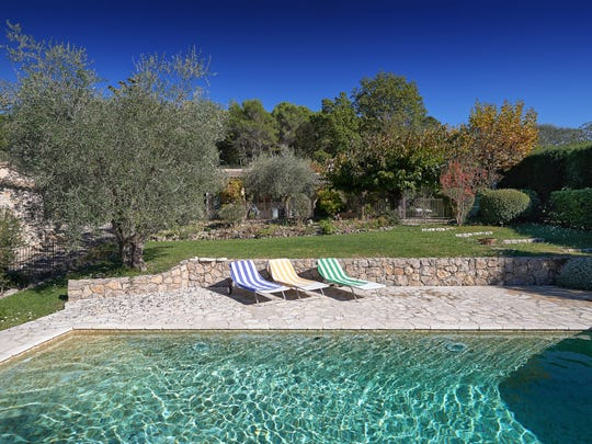 Julia Child's home in Provence included some creature comforts such as a pool.