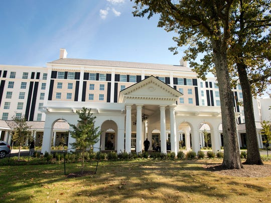 The Guest House at Graceland, a new 450-room hotel hotel built adjacent to Elvis Presley's Graceland, opened to the public Oct. 30, 2016.