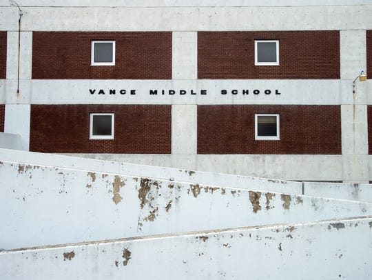 Vance Middle School has sat vacant since 2014.Shelby County Schools plans to tear it down.