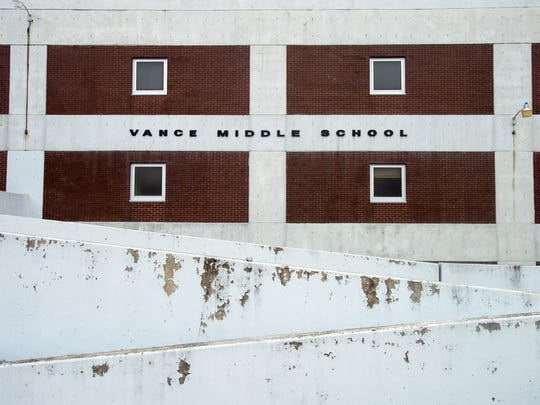 Vance Middle School has sat vacant since 2014. Shelby County Schools plans to tear it down.