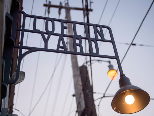 Loflin Yard bar and restaurant is located at the corner of Carolina Ave. and Florida St., south of downtown Memphis.