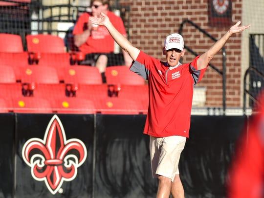 UL coach Michael Lotief brings plenty of emotion to