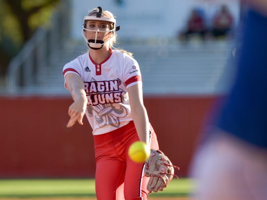UL freshman pitcher Alyssa Denham has emerged as a consistent starter from day one for the Ragin' Cajuns.