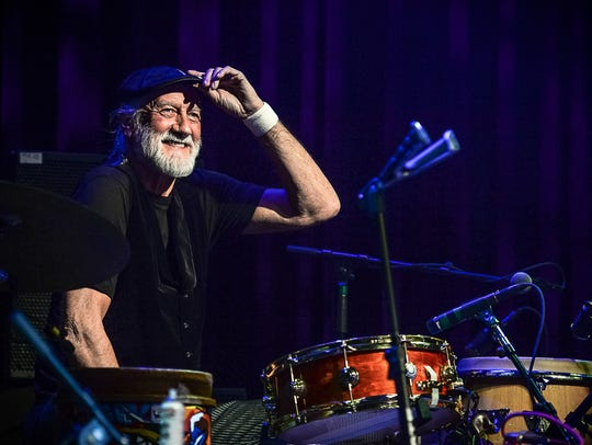 Mick Fleetwood performing at Sammy Hagar's Acoustic-4-A-Cure.