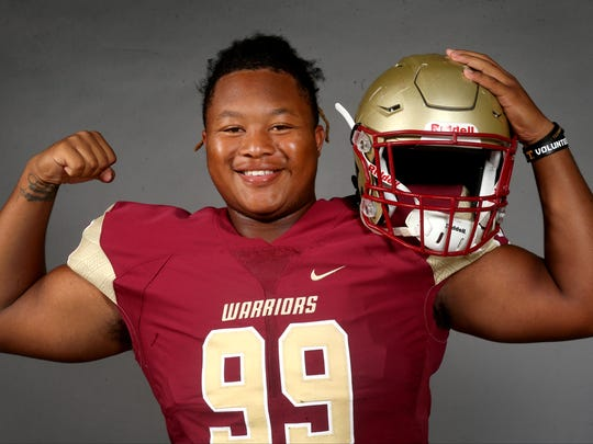 Riverdale's D'Andre Litaker is one of the players to watch this football season in Rutherford County. Photo taken on Saturday, July 29, 2017.