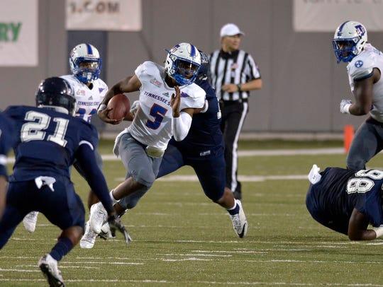 September 9, 2017 - Tennessee State University quarterback
