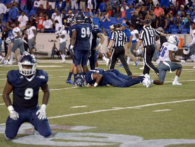 September 9, 2017 - Jackson State University players