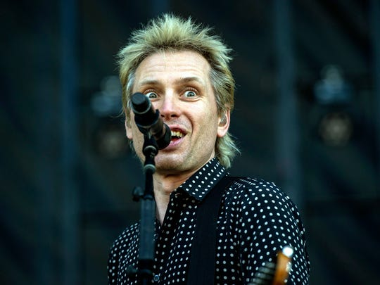 May 5, 2018 - Franz Ferdinand performs on the Bud Light Stage during the Memphis In May Beale Street Music Festival.