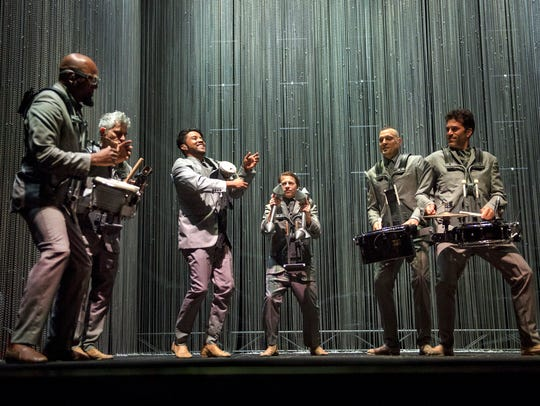 May 5, 2018 - Drummers with David Byrne perform on