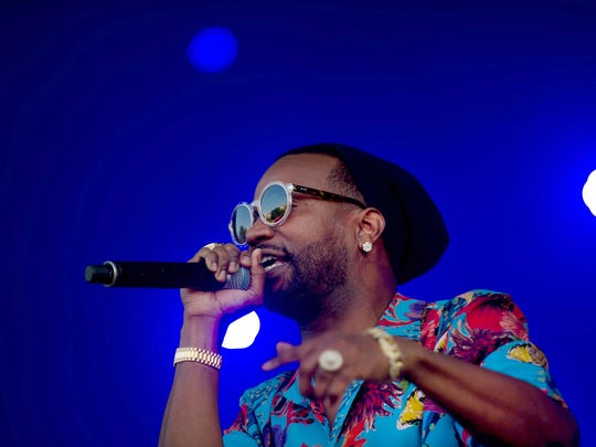 May 6, 2018 - Juicy J performs on the Bud Light Stage during the Memphis In May Beale Street Music Festival.