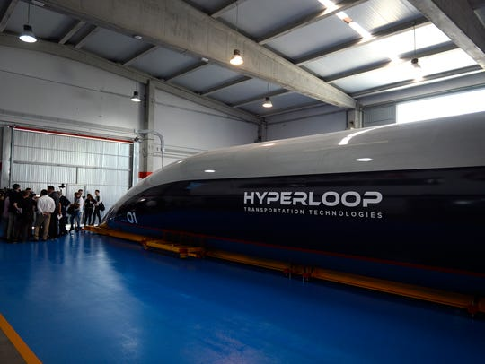 A full-scale passenger Hyperloop capsule is presented