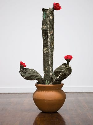 Margarita Cabrera, Saguaro from series Space in Between, 2010. Image courtesy the Artist and Walter Maciel Gallery. Photograph by Fredrik Nilsen.