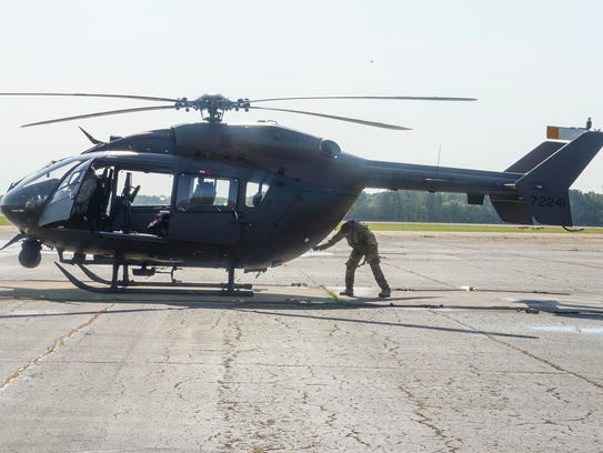 The LANG sent one LUH-72 Lakota to assist the U.S.