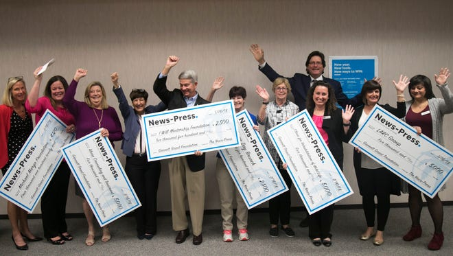 The Gannett Foundation presented grant money to local organizations on Tuesday, January 16, 2018, at The News-Press in Fort Myers. Receiving checks were ACT, LARC, CROW, the I Will Mentorship Foundation, the Game Day Bunch and the Michael Margo Foundation.