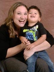 House of Hope graduate Nicole Kubond and son Jack November 1, 2014.