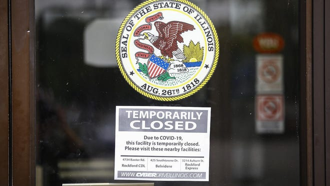The Illinois Secretary of State Driver Services Office at 3720 E. State St. in Rockford closed recently after an employee tested positive for COVID-19. Driver services facilities across the state will be closed for the next three weeks because of the coronavirus, Secretary of State Jesse White said Friday.