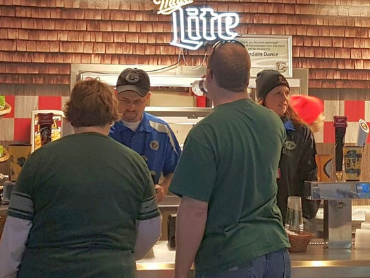 Concession workers at Lambeau Field