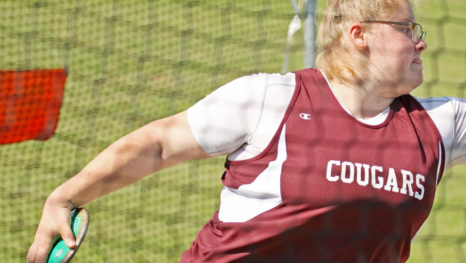Stuarts Draft's Paetyn Beverly competes in the discus