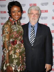 Director George Lucas and wife Mellody Hobson were