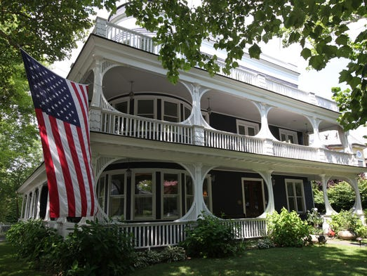 A view of 7 Prospect Avenue in Larchmont, photographed Aug. 7, 2014. This historically significant Larchmont home has been a seaside inn, convalescent hospital and a private home.
