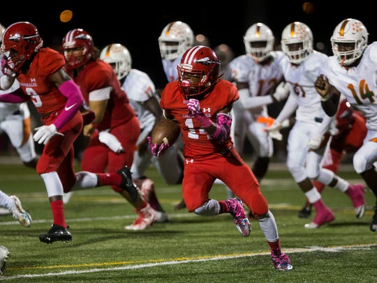 Immokalee junior defensive back Charles Toombs has two interception returns for touchdowns, as well as a rushing TD and receiving TD.