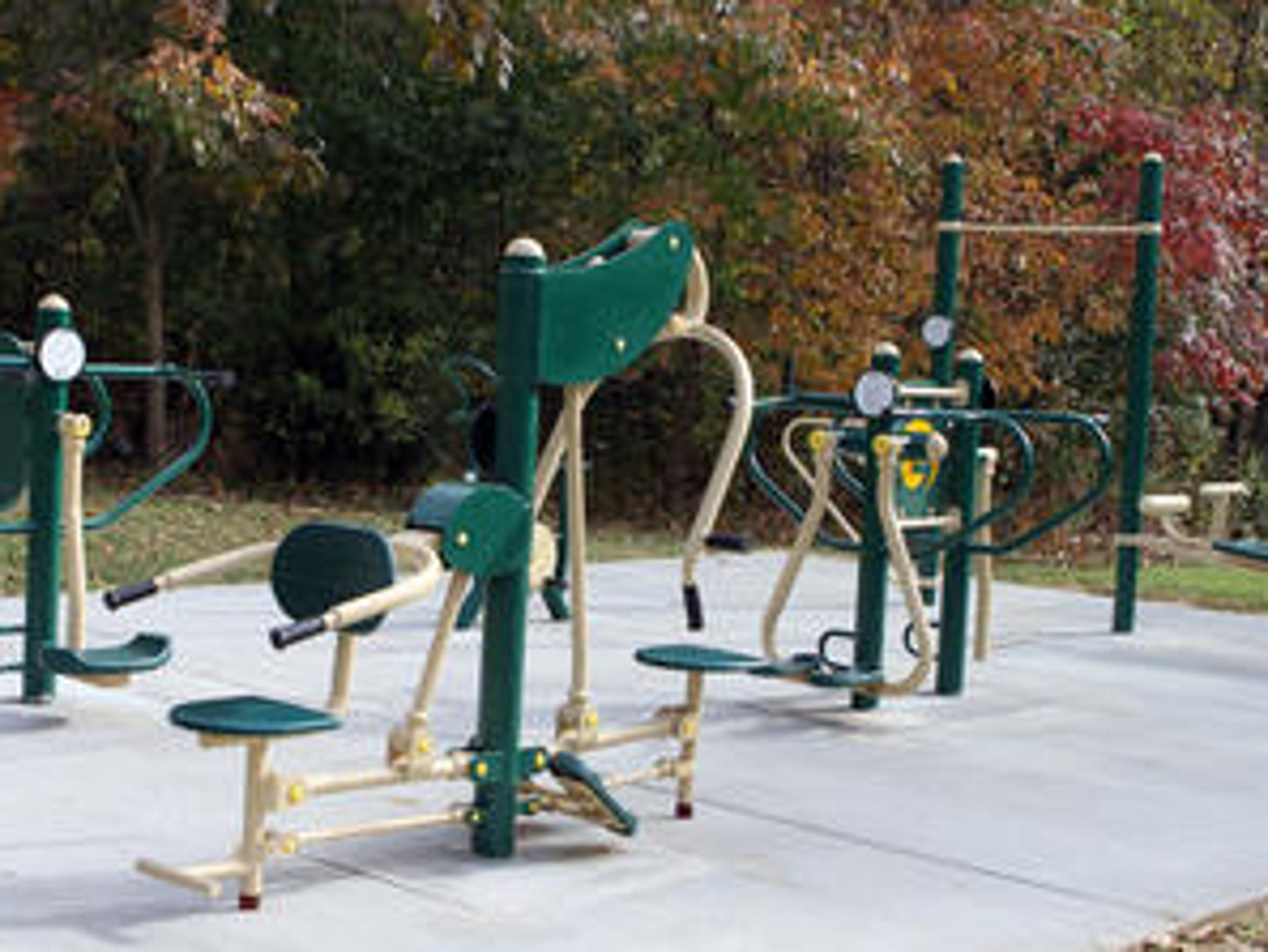 The new outdoor gym at Clarksville Greenway's Mary's