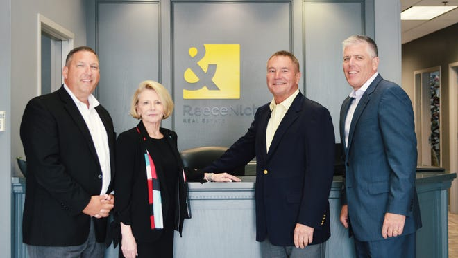ReeceNichols leadership team: Shaun Duggins, President of the Southern Region; Linda Vaughan, CEO; Rick Witeka,General Manager of the Southern Region; Mike Frazier, President & CFO